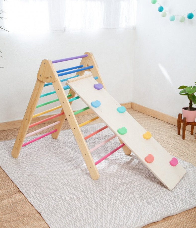 Pinkler Climbing Triangle And Slide are great Climbing Toys For Toddlers