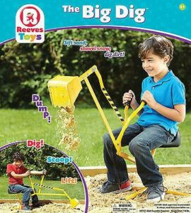 Reeves International Big Dig Sandbox Digger excavator crane In The Best Toys For Boys Age 3