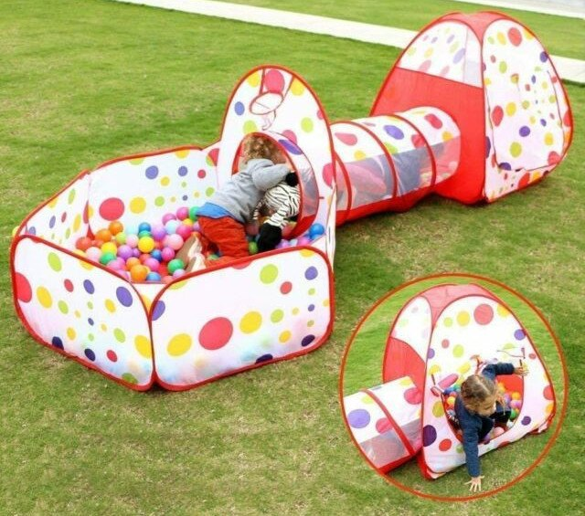Toddler Tunnel With Ball Pit And Tent