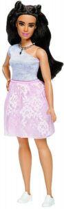 Barbie Fashionistas Powder Pink Curvy Lace Doll