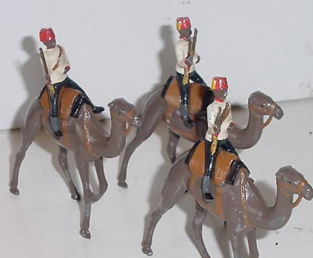 toy soldiers egyptian camel corps