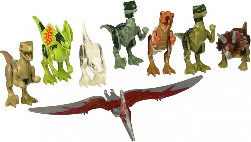"OliaDesign ABS 3"" Jurassic World Mini figures Jurassic Park Dinosaur Building Blocks"